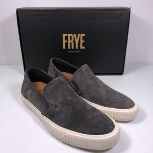 Frye Patton Slip On Sneakers Shoes Suede Graphite